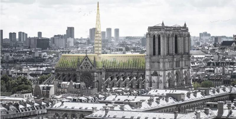 На крыше Нотр-Дама предложили создать теплицу. собор, собор Парижской Богоматери, Нотр-Дам, пожар, реконструкция, реставрация, Париж, Франция