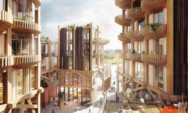 В России могут появиться деревянные небоскребы. недвижимость, строительство, архитектура, деревянное строительство, небоскребы