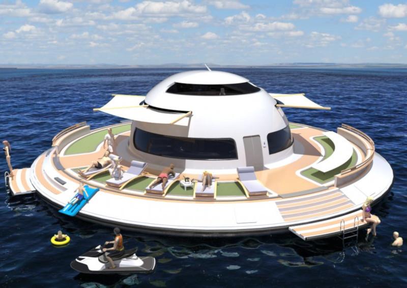 Итальянский дизайнер планирует построить плавучий дом. дом, квартира, плавучий дом, дизайн, Италия