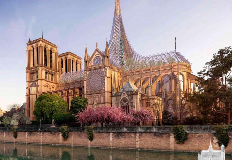 Французский архитектор предложил радикальную реконструкцию Нотр-Дама. собор, собор Парижской Богоматери, Нотр-Дам, Париж, Франция