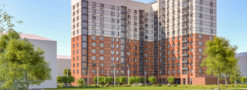 Дом с двухцветным фасадом построят по программе реновации. дом, квартира, программа, реновация, Москва