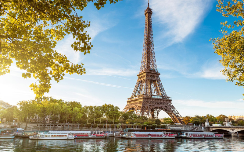 Эйфелеву башню закрыли из-за забравшегося на нее мужчины. башня, Эйфелева башня, Париж, Франция