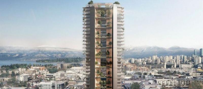 В Ванкувере построят уникальный гибридный небоскреб. дом, здание, небоскреб, башня, Ванкувер, Канада