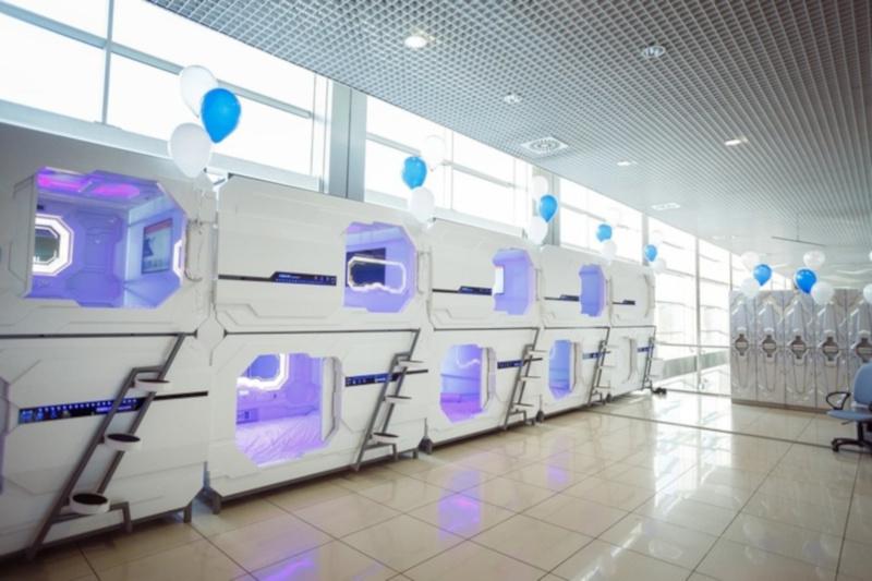 В аэропорту Екатеринбурга открылся капсульный отель. аэропорт, отель, Екатеринбург