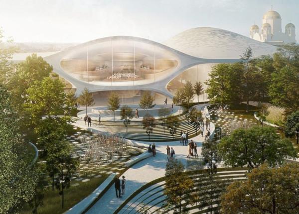 В октябре 2020 года в Екатеринбурге начнут строить новое здание филармонии. здание, строительство, филармония, Екатеринбург