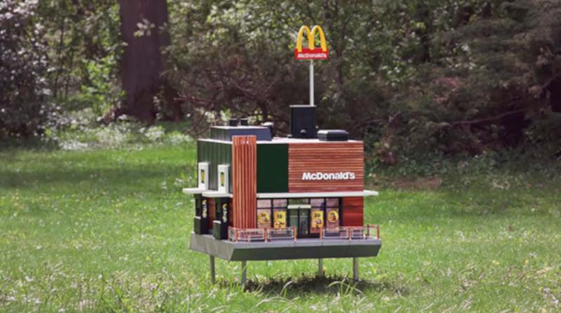 В Швеции построили самый маленький ресторан McDonald's. ресторан, McDonald's, Макдональдс, Швеция
