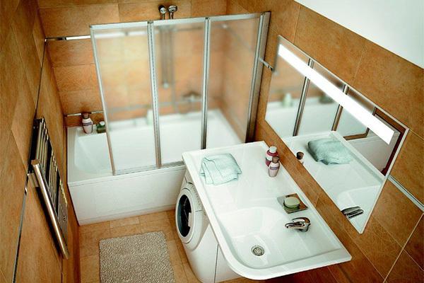 Как сделать удобный стоячий душ в маленькой ванной. 17223.jpeg