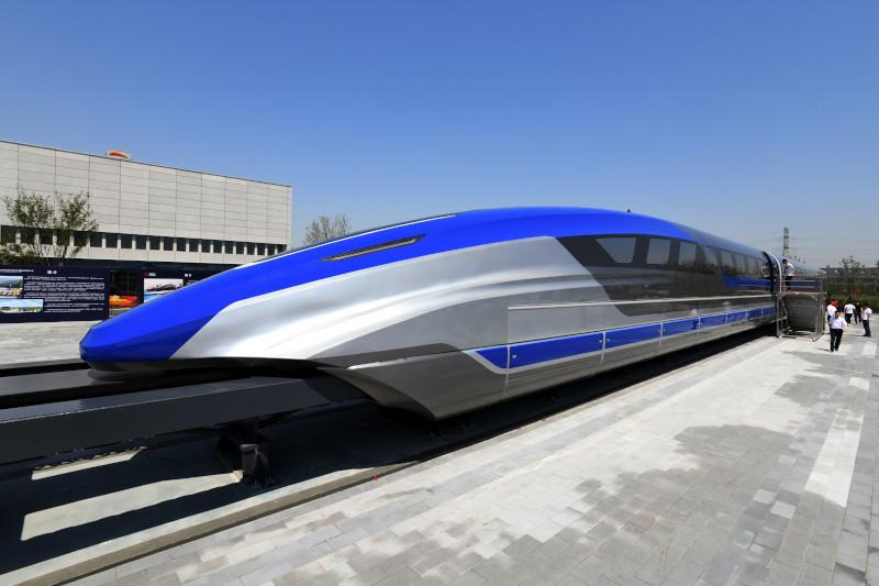 Китай представил прототип самого быстрого поезда в мире. транспорт, поезд, Китай