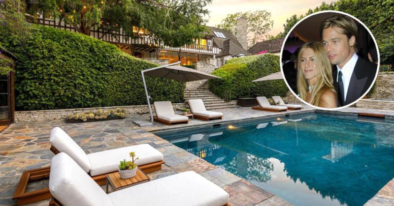 В США выставили на продажу дом Брэда Питта и Дженнифер Энистон. дом, квартира, особняк, актеры, Дженнифер Энистон, Брэд Питт