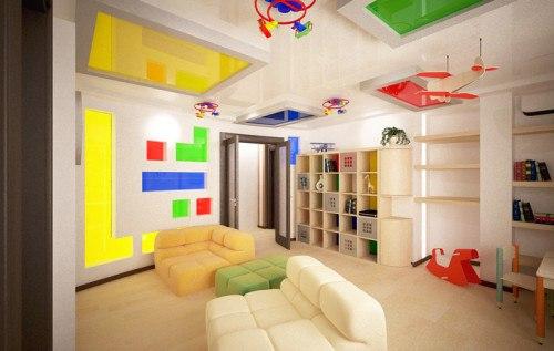 Потолок в детской: фото, способы оформления. Потолок в детской: фото 1