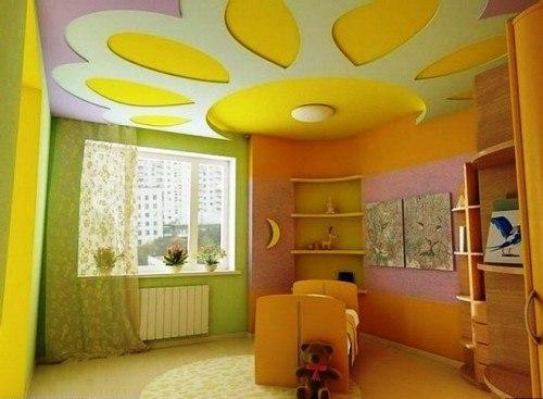 Потолок в детской: фото, способы оформления. Потолок в детской: фото 3