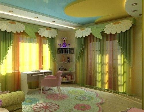 Потолок в детской: фото, способы оформления. Потолок в детской: фото 5