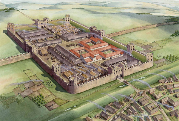 Под автовокзалом в британском городе нашли старинный римский форт. археология, реконструкция, автовокзал Эксетер, графство Девоншир, Британия, Кафедральный собор, римские здания,римский форт