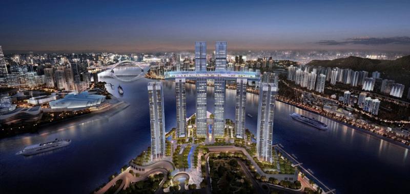 В китайском городе Чунцин строят горизонтальный небоскреб. 15327.jpeg