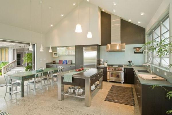 Интересный дизайн кухни с высокими потолками. 16390.jpeg