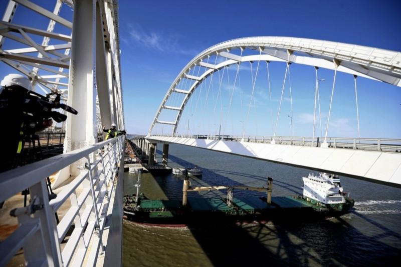 Названа дата запуска железнодорожного движения по Крымскому мосту. транспорт, мост, железная дорога, Крым