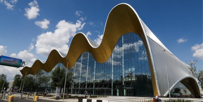 В Лужниках открыли новый Дворец гимнастики. строительство, здание, дворец гимнастики, Лужники, Москва