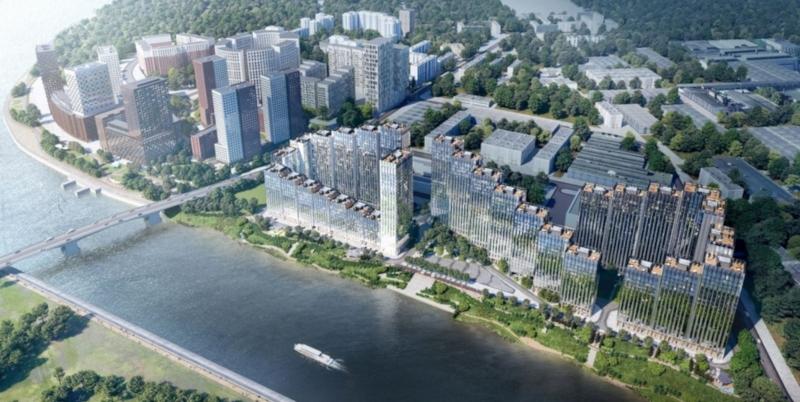 Жилой комплекс в форме бегущей волны построят на западе Москвы. дом, здание, строительство, жилье, жилой комплекс, волна, Москва