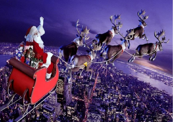 Санта-Клаус в волшебных санях пролетел над всей территорией России. 14548.jpeg
