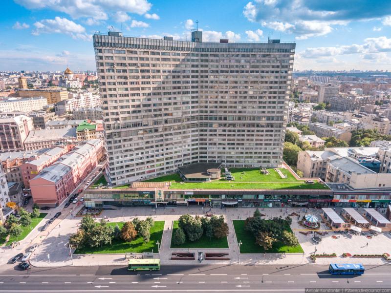 У жилой высотки на Новом Арбате появится экофасад. дом, квартира, жилье, вывеска, экофасад, Москва