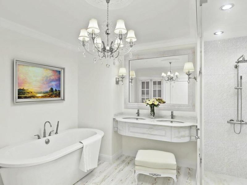 Интерьер белой ванной комнаты: советы по оформлению. дом, квартира, ванная, белый, цвет, дизайн, интерьер