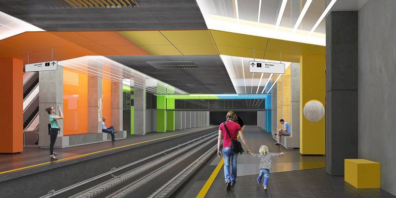 Работы художников-супрематистов повлияли на дизайн станции метро