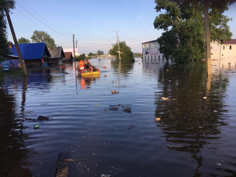 В подтопленном иркутском Нижнеудинске начато восстановление домов. дом, потоп, Иркутск