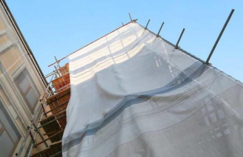 В центре Москвы остановили незаконный ремонт в старинном здании. дом, здание, ремонт, Москва