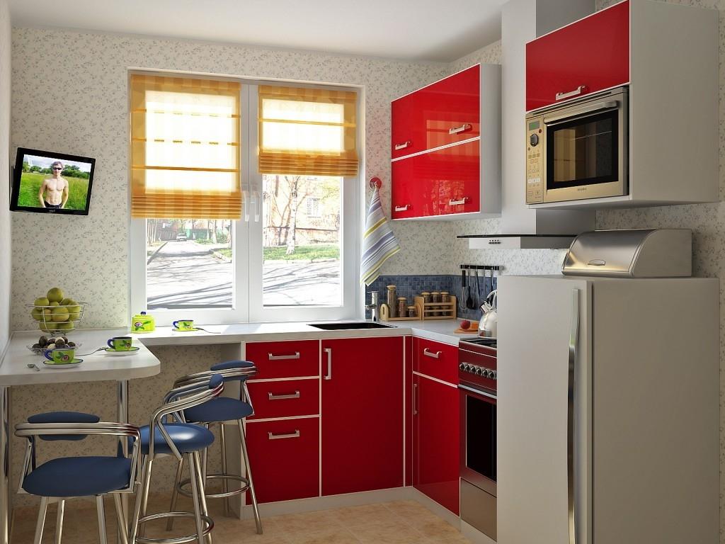 И на маленькой кухне можно развернуться. Как грамотно расставить мебель. 13634.jpeg