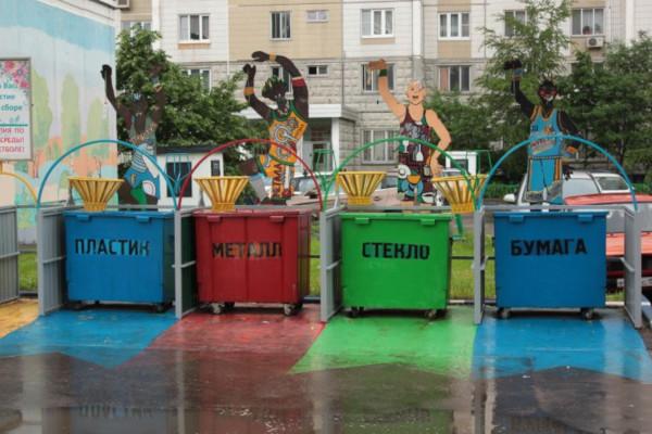 Власти Москвы назвали цвета контейнеров для раздельного сбора мусора. мусор, контейнер, мусорная реформа, Москва