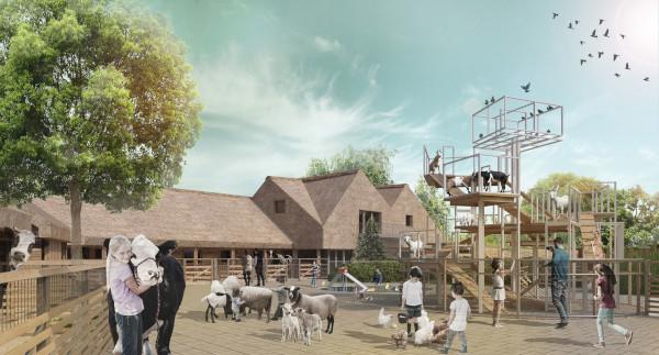 В Московском зоопарке откроют новую детскую площадку. зоопарк, животные, строительство, детская площадка, Москва