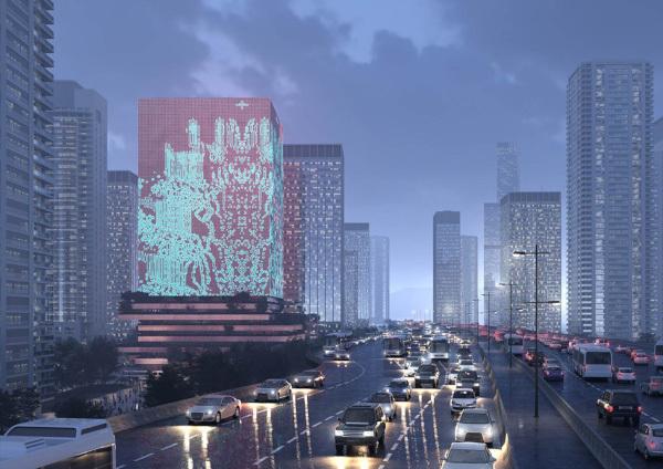 Mecanoo построит пиксельную башню-