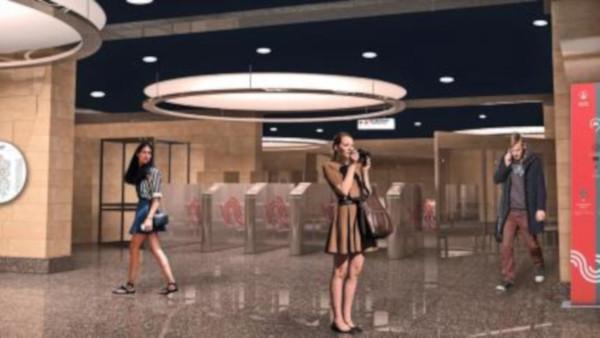 В оформлении станции метро
