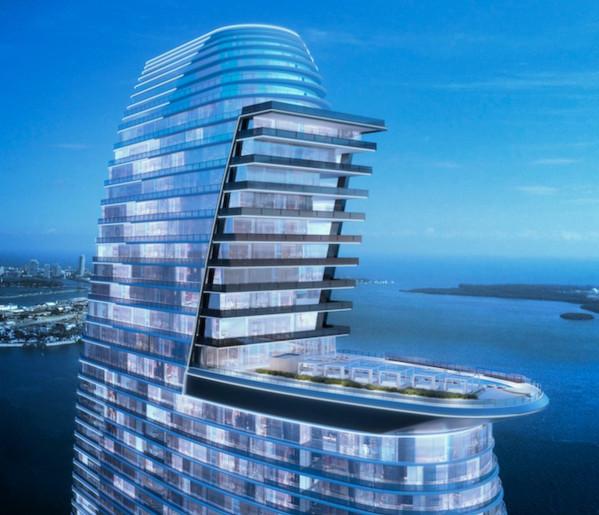 Как будет выглядеть жилой небоскреб Aston Martin в Майами. строительство, небоскреб, Майями