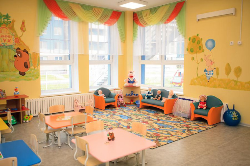 СОВРЕМЕННЫЙ ДЕТСКИЙ САД ДЛЯ МАЛЕНЬКИХ ЖИТЕЛЕЙ НОВОЙ МОСКВЫ. здание, детский сад, туалет, Москва