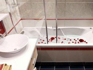 Простой способ сделать маленькую ванну просторной