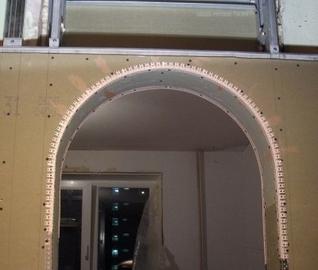 Как смастерить арку из гипсокартона
