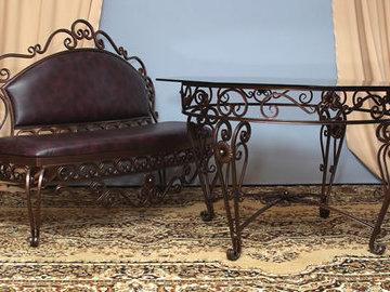 Достоинства кованой мебели