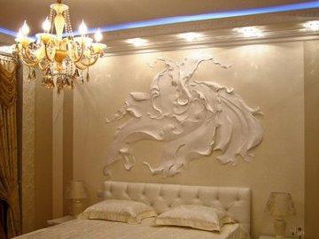 Объемный рисунок на стене - это так красиво и просто