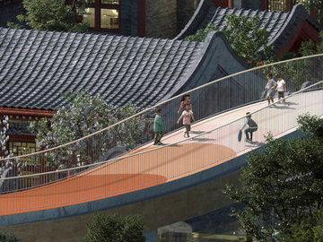 """В Китае начали строительство детского сада, который """"парит"""" над историческими зданиями"""