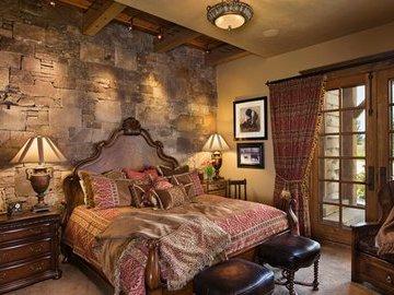 Дизайн спальни из дерева