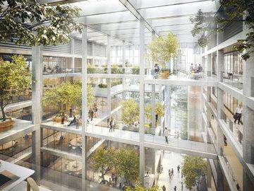 """Британские архитекторы разработали проект """"зеленого"""" офисного здания"""