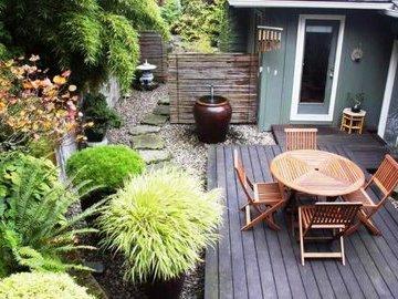 Как обустроить внутренний дворик на даче