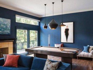 Модный синий интерьер