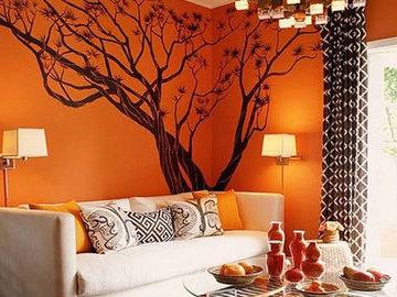 Особенности использования оранжевого цвета в интерьере