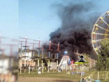 В Барнауле в парке развлечений вспыхнул аттракцион