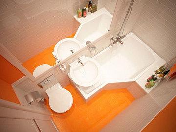 Цвета для маленькой ванной комнаты (часть 1)
