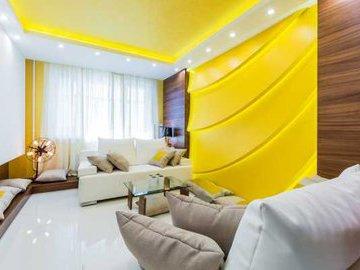 Желтый цвет в интерьере: секреты по использованию