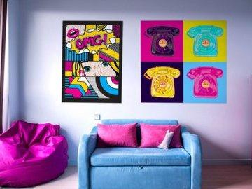 Поп-арт: отделка, мебель, декор.