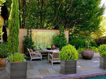 Какими растениями украсить внутренний дворик?